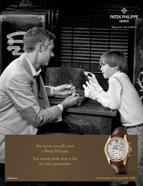 You never own a patek